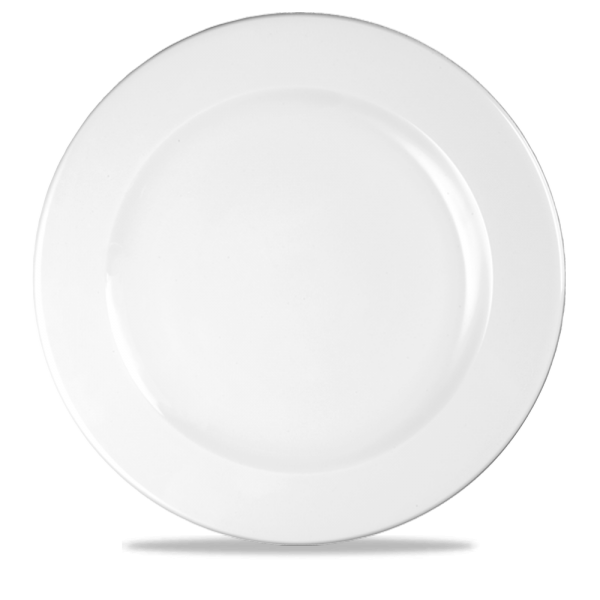 """White Profile Footed Plate 12"""" 12/box"""