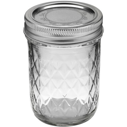 Mason Jar Ball quilted crystal jelly 8oz