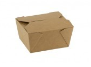 FSC® kraft/PLA take away box 110*90*63 mm 50/box
