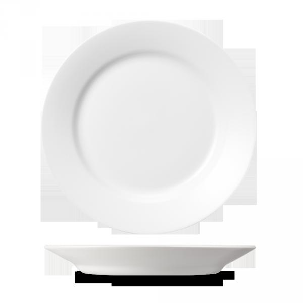 "White Med Dish 11"" 12/box"