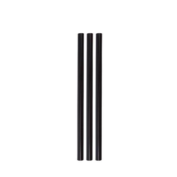 ECO rietjes zwart zonder buigstuk 8 Ø 15 cm