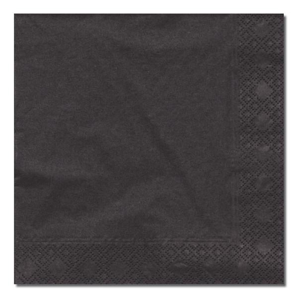 Cocktail Napkins black 24*24 cm