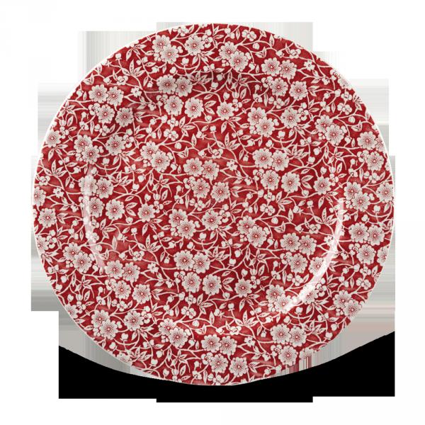 """Victorian Calico Cranberry Profile Plate 12"""" Box 6"""