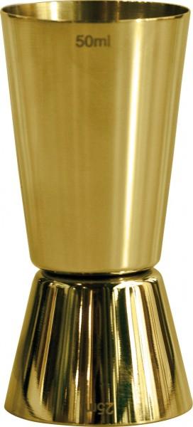 Jigger gold plated 25 & 50 ml
