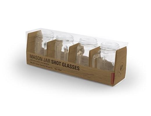 Mason Jar Shot Glasses 30 ml 4/box