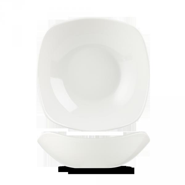 "White X Squared Bowl 8"" 12/box"