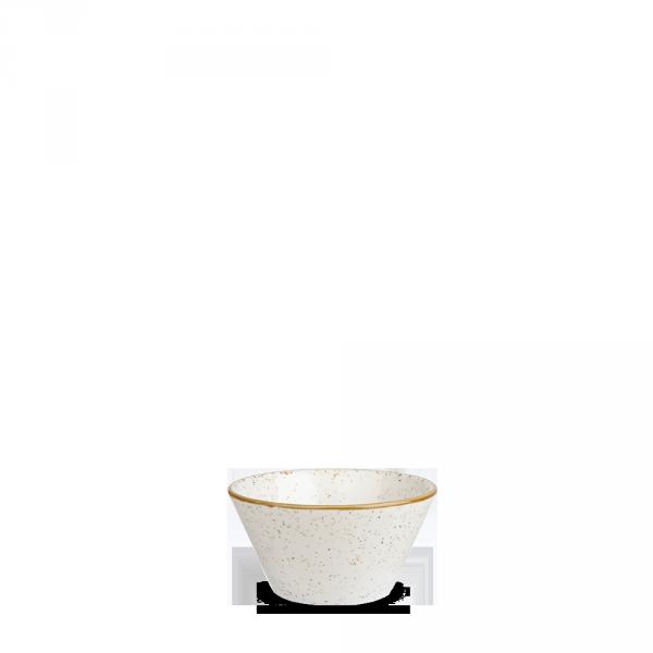 Stonecast White Speckle X Squared Sauce Dish 3Oz Box 12