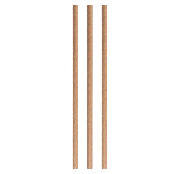 Paper straws eco beige 8*250 mm