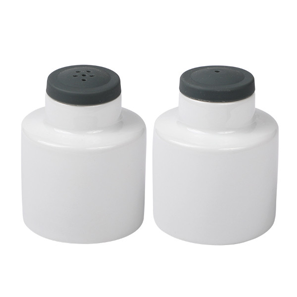 Salt & Pepper Shaker porcelain white with sillicone top