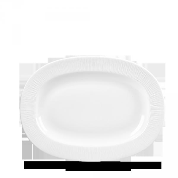 "Bamboo Oval Dish Medium Rimmed 11"" 6/box"