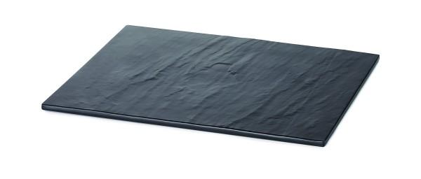 Melamine Rectangular Display Tray Black Slate 1/box