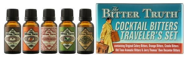 The BitterTruth Cocktail Bitters Traveler's Set, 5x20 ml