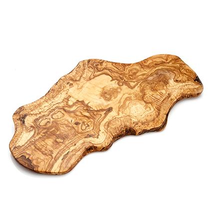 Olijfhouten plank, zonder handvat, maat XL 65-80 x 2cm