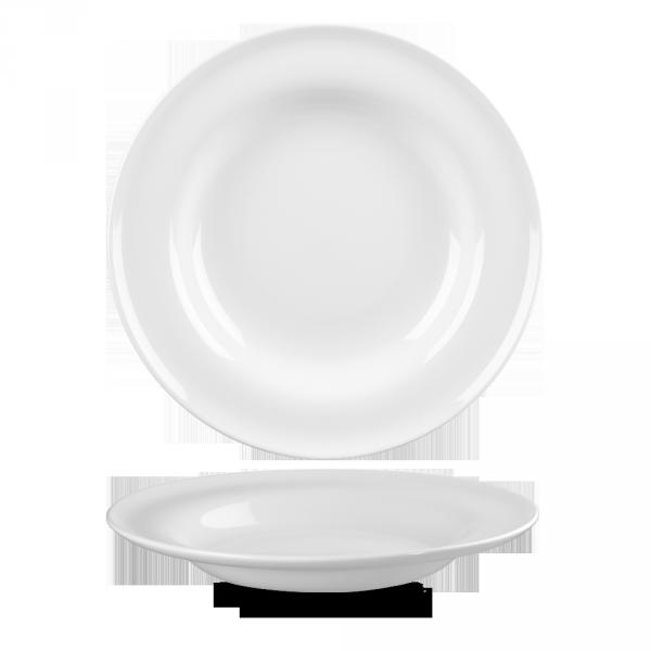 """White Contempo Pasta Bowl 11"""" 12/box"""