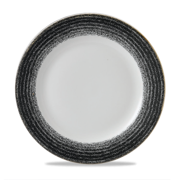 "Studio Prints Charcoal Black Profile Plate 10 7/8"" Box 12"
