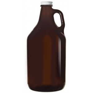 Libbey Amber Growler with lid 1893 ml