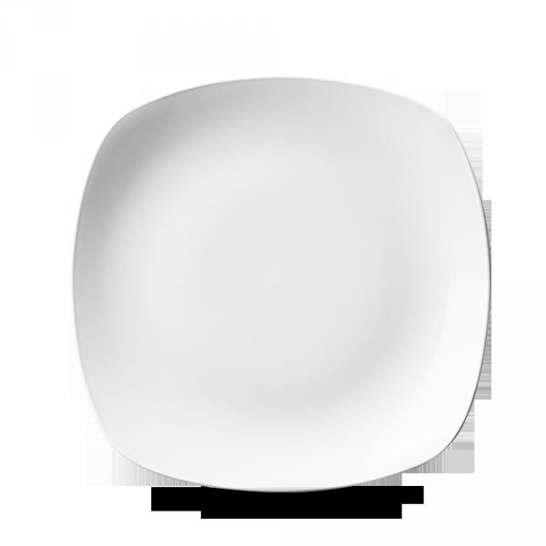 """White X Squared Square Plate 8.5"""" 24/box"""