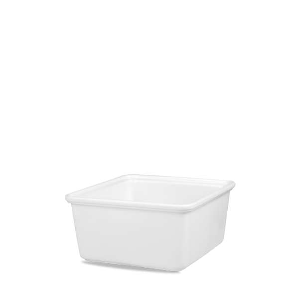 "White Cookware Rect Shall Casserole Dish 6 7/8""X7 3/8"" 4/bo"