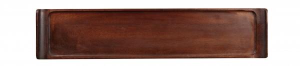 "Wood Rectangular Tray 18"" X 3 7/8"" 4/box"