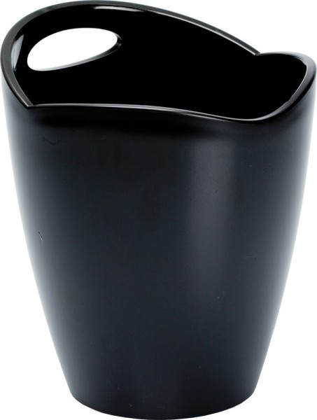 Ice Bucket Frosted Black Plastic Ř 22*24 cm 3 L