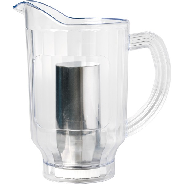 Pitcher 1,8 L aluminium cooler for ice cubes inside
