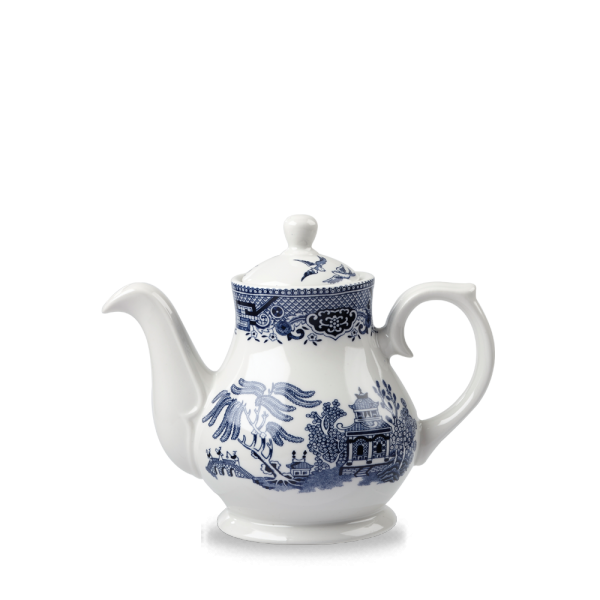 Blue Willow Sandringham Tea/Coffee Pot 15Oz 4/box