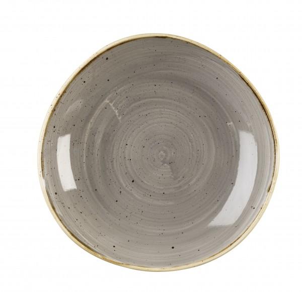 "Stonecast Grey Round Trace Bowl 9 7/8"" 12/box"