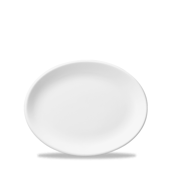 "White Oval Plate 10"" 12/box"