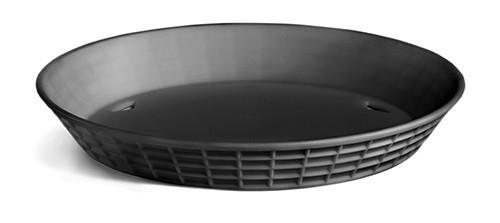 Diner Platter no Base Black 36/box