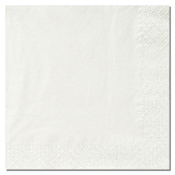 Cocktail napkins white 3/ply 24*24 cm