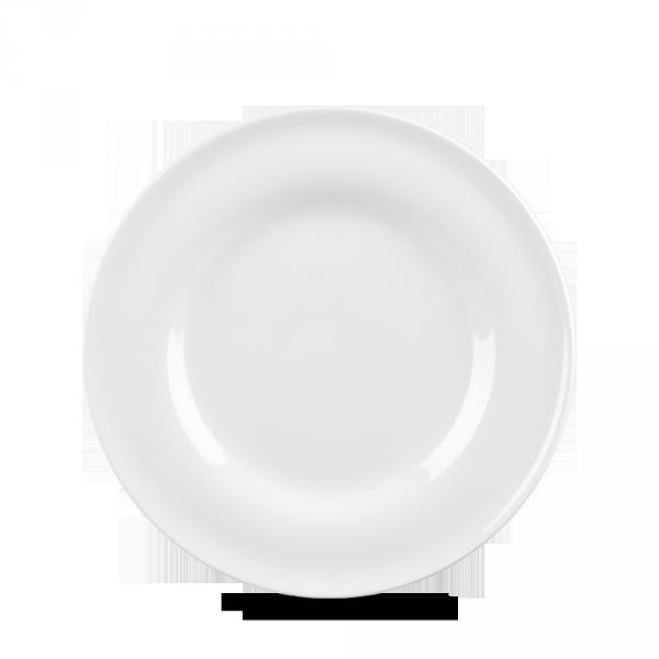 """White Contempo Plate 8"""" 12/box"""