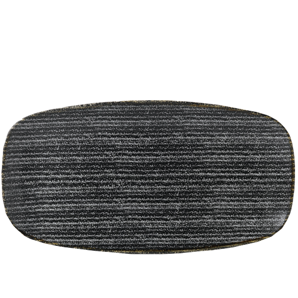 "Studio Prints Charcoal Black Oblong Chefs Plate 13 5/8X7 1/4"" Box 6"